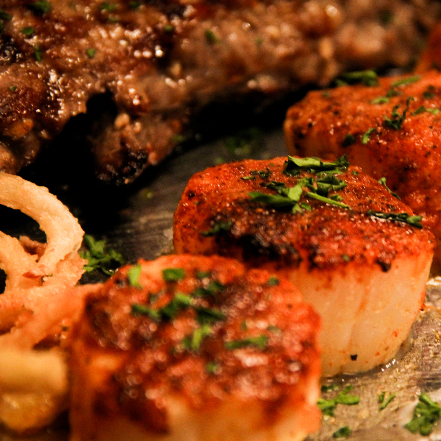 Steak and Scallops
